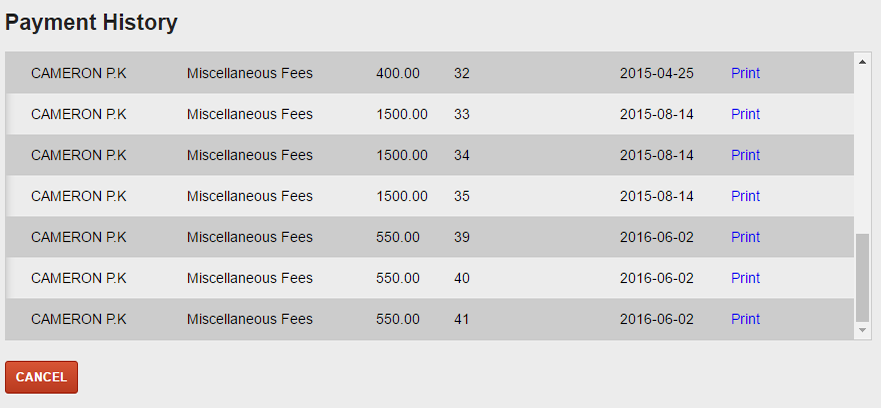 Fees4 - Payment History